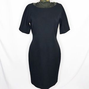 Ann Taylor Black Short Sleeve Dress K137